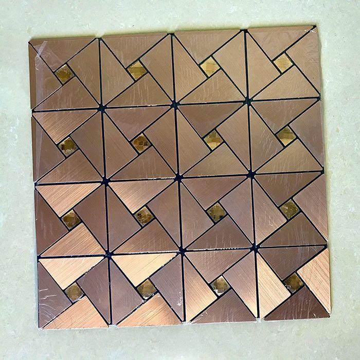 Gạch mosaic lục giác đồng tự dính MT-GM02102