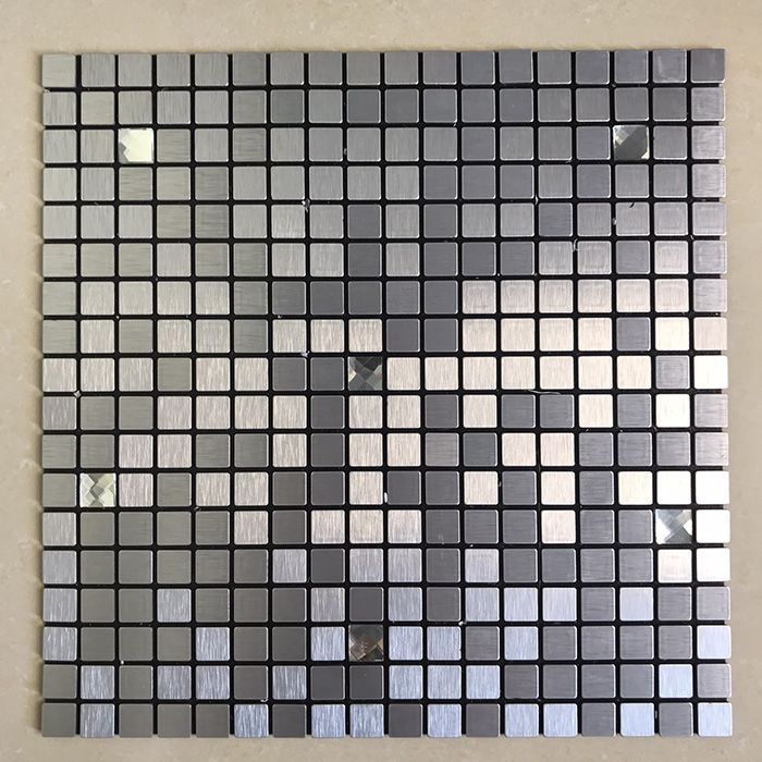 Gạch mosaic tự dính vuông chíp nhỏ bạc MT-GM02109