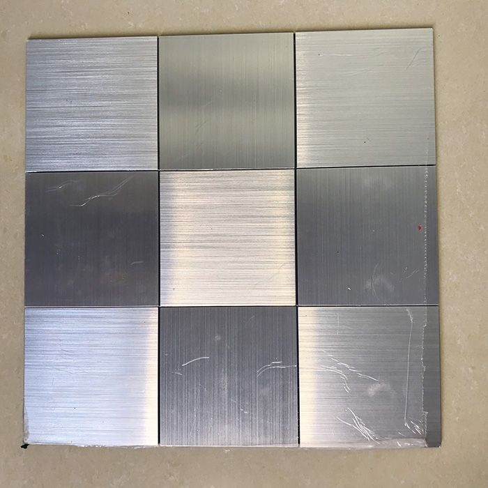 Gạch mosaic tự dính vuông to bạc MT-GM02107