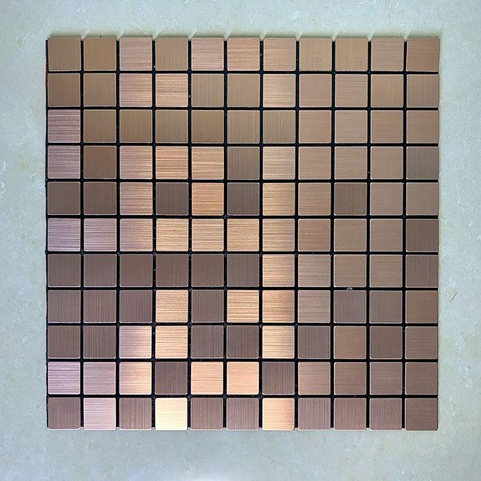 Gạch mosaic vuông đồng tự dính MT-GM02105