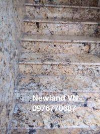 Cầu thang làm từ đá vàng Brazil MT-DCT1219