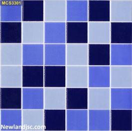 Gạch mosaic men ốp bể bơi Kt 300x300mm MT-MCS3301