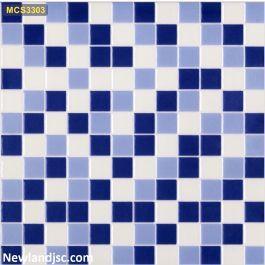 Gạch mosaic men ốp bể bơi Kt 300x300mm MT-MCS3303