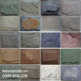 Đá granite bóc sần ốp chân tường - granite mushroom wall