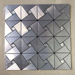 Gạch mosaic lục giác bạc tự dính MT-GM02101