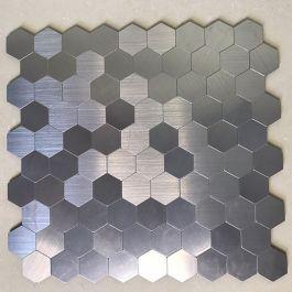 Gạch mosaic lục giác bạc tự dính MT-GM02111