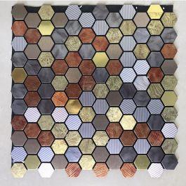 Gạch mosaic lục giác màu tự dính MT-GM02110