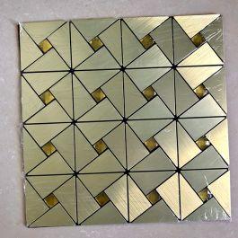 Gạch mosaic lục giác vàng tự dính Mt-GM02100