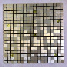 Gạch mosaic tự dính vuông chíp nhỏ vàng MT-GM02108