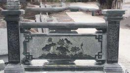 Lan can đá xanh rêu nguyên khối MT-LCD-XR01