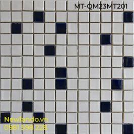 Gạch Mosaic thủy tinh hòa trộn 2 màu Kích thước vỉ 300x300 MT-QM23MT201