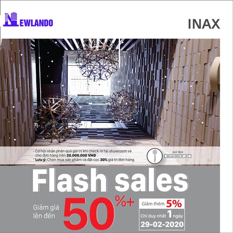 Flash Sale Day gạch Inax - Duy nhất tại Newlando Việt Nam