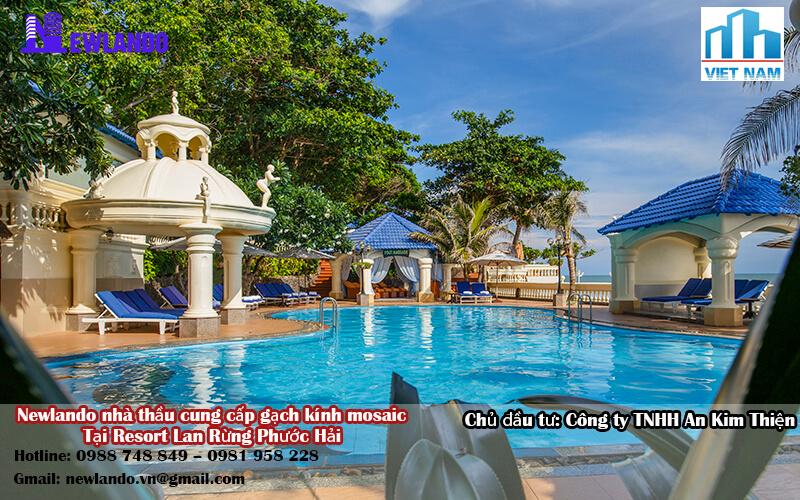 Newlando nhà thầu cung cấp gạch kính mosaic tại Resort Lan Rừng Phước Hải