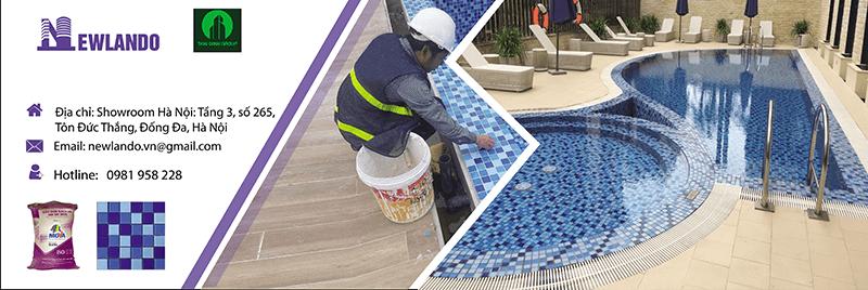 Newlando Nhà thầu cung cấp và thi công gạch bể bơi tại khách sạn Novotel Thái Hà trực thuộc Thái Bình Group