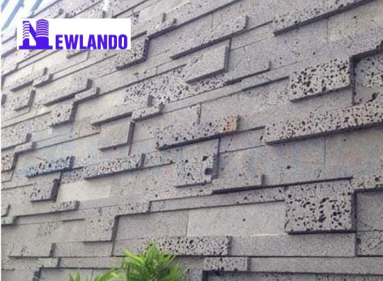 Đá ong xám ốp tường 3D trang trí đa quy cách 5x30cm MT-DO00015